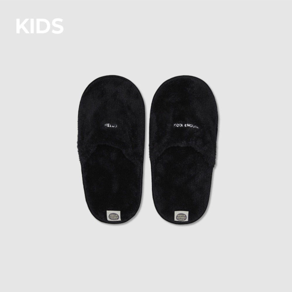 THE TOWEL SLIPPERS [BLACK] KIDS
