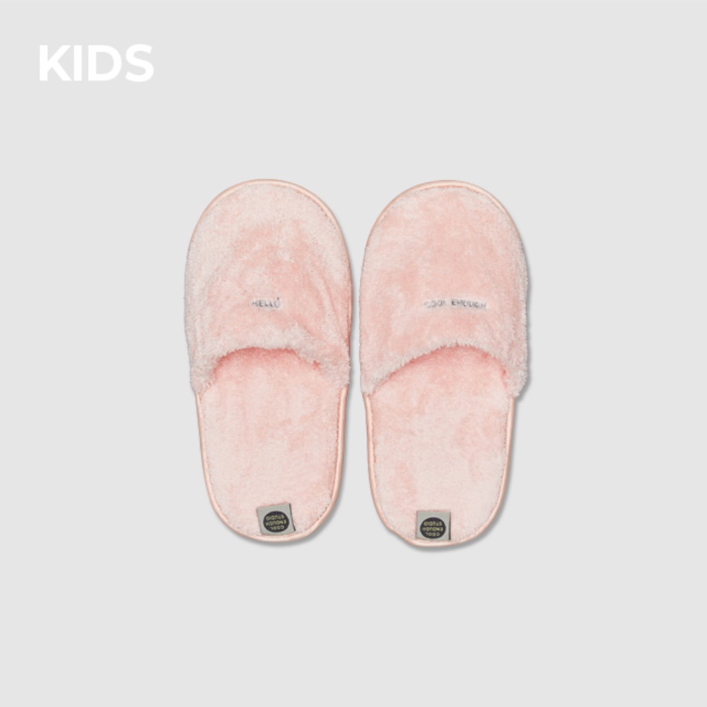 THE TOWEL SLIPPERS [PINK] KIDS